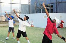 中学テニス部